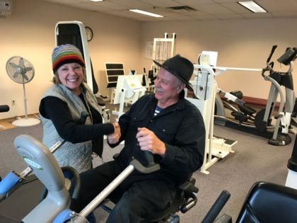 Recumbent Fitness Bike at the Blaine Senior Center