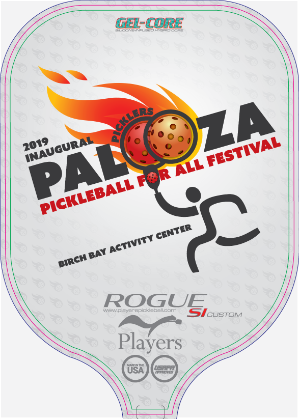 Picklers Palooza front of paddle